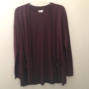 Cardigan with lace-up detail on sides